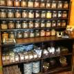Large, retail, hutch, spice, display, wood, shelf, store, cabinet, shelves, rust