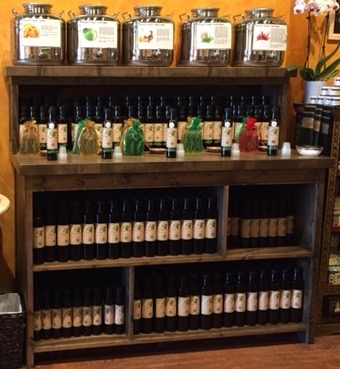 Rustic Wood Retail Store Product Display Fixtures Shelving Olive