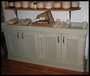 Rustic Wood Floor display cabinet