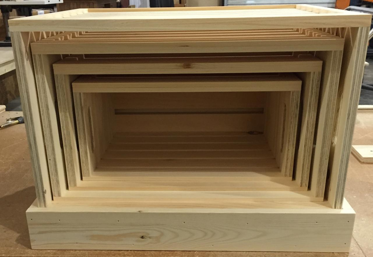 Wood Trade Show Booth : Rustic wood retail store product display fixtures & shelving wood