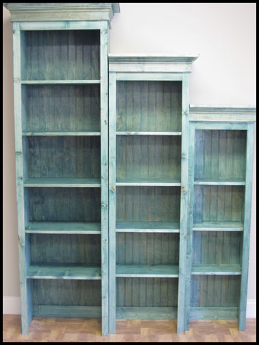 Rustic wood retail shelves bookcase