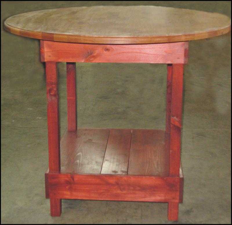Rustic Wood Display Tables Retail Product Fixtures Pub style table