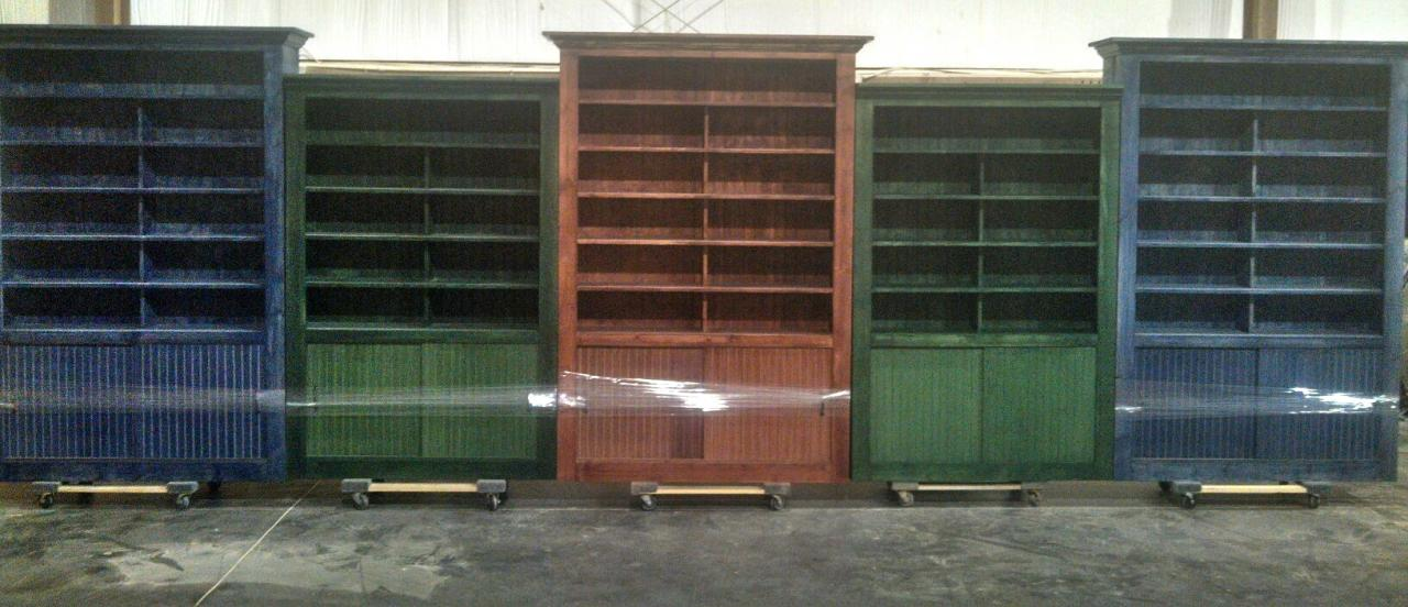 rustic wood retail store product display fixtures shelving idea