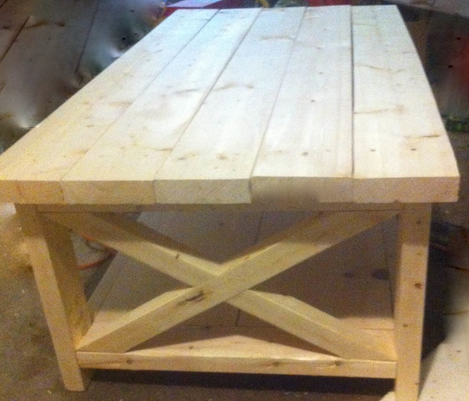 Wood Retail Display Tables ~ Rustic wood retail store product display fixtures