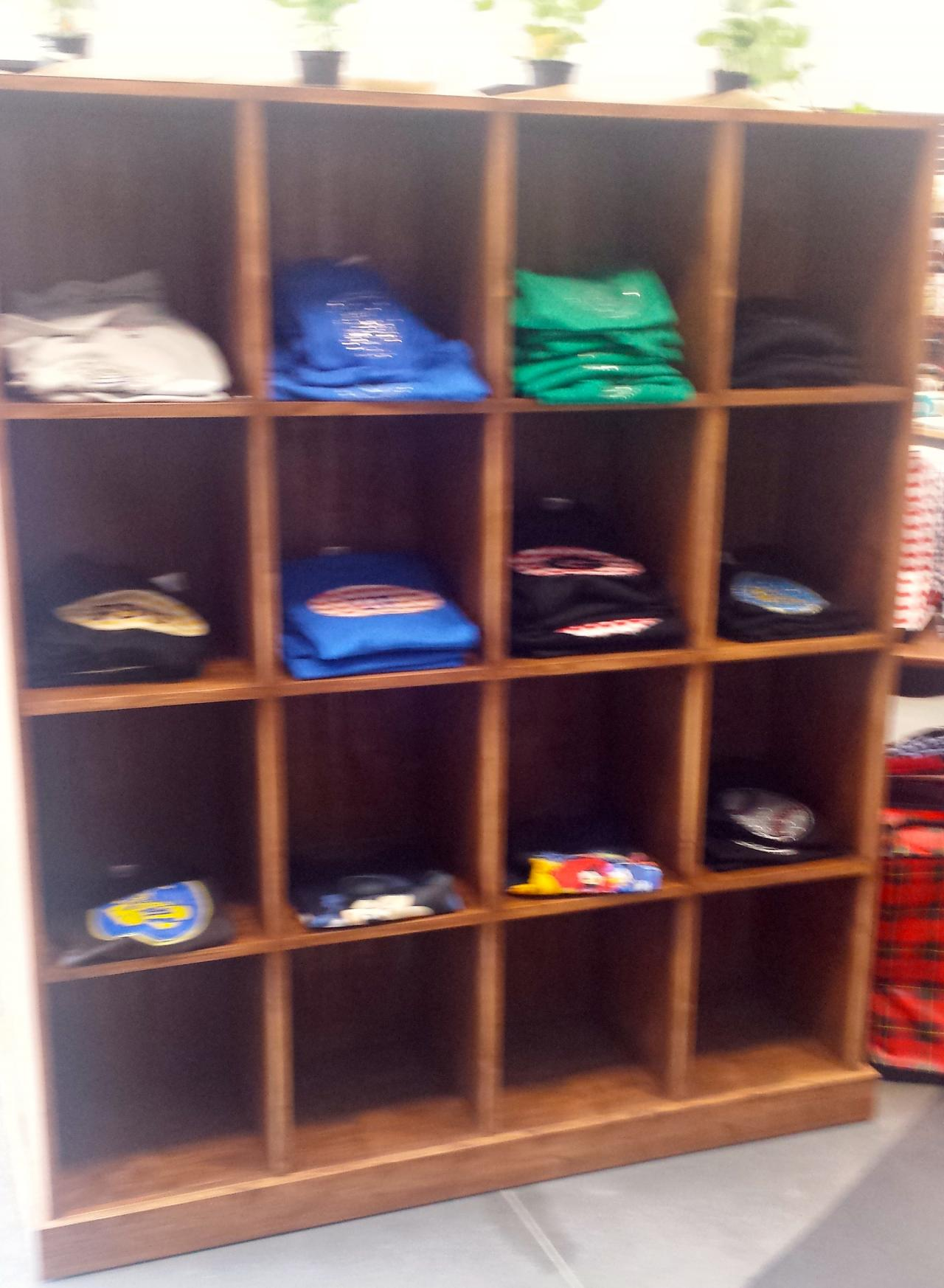 ... Storage · Rustic Wood T Shirt Cubby Display Unit ...