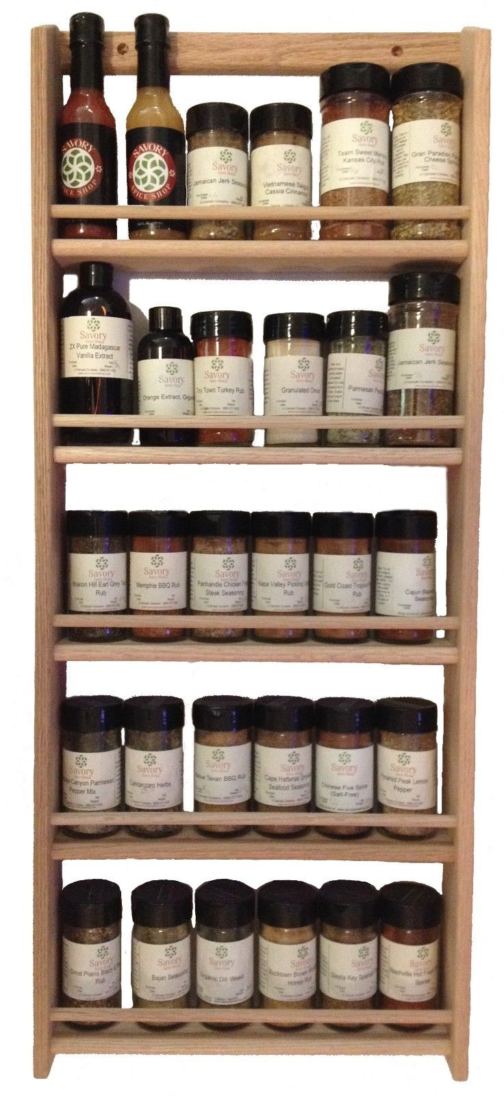 rustic wood wall spice rack oak stainable